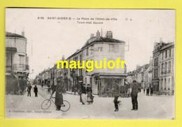 52 HAUTE MARNE / SAINT-DIZIER / LA PLACE DE L'HÔTEL DE VILLE / ANIMÉE / 1918 - Saint Dizier