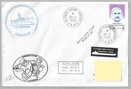 """D - TAAF PO227 E.PEAU Et La """"petite étiquette Noire"""" Sur Pli 30.3.1998 CROZET -  """" LA CURIEUSE """" - Covers & Documents"""