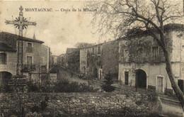 MONTAGNAC  Croix De La Mission Et Village Animée RV - Montagnac