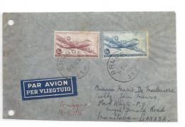 PA 8-9 Obl. Sc BRUGGE 1sur Lettre Par Avion (Etiq.) Du 145-1946 Vers Manitoba (Canada) . - W1209 - Covers & Documents