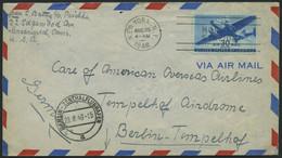 ERST-UND ERÖFFNUNGSFLÜGE 2255 BRIEF, 28.8.46, New York-Berlin, USA-Frankatur, Brief Feinst - Briefe U. Dokumente