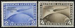 Dt. Reich 497/8 *, 1933, 2 Und 4 RM Chicagofahrt, 2 Werte Feinst - Ungebraucht