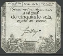 1793Frankreich 50 Sols Assignat - Assegnati