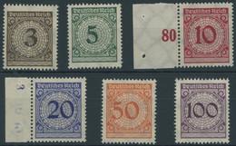Dt. Reich 338-43 **, 1923, Ziffer, Postfrischer Prachtsatz, Mi. 110.- - Ungebraucht