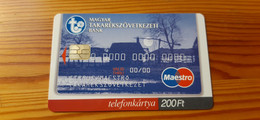 Phonecard Hungary - Takarékszövetkezet, Credit Card - 2.500 Ex., Mint Condition! - Ungheria