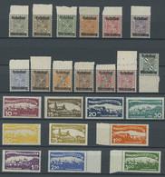 WÜRTTEMBERG 258-70,272-81 **, 1919/20, Wertziffer In Schildern Und Abschiedsausgabe, Postfrisch, 2 Prachtsätze, Mi. 60.- - Wuerttemberg