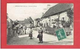 MONHOUDOU 1903 ARRIVEE DU BOURG CARTE EN TRES BON ETAT - Autres Communes