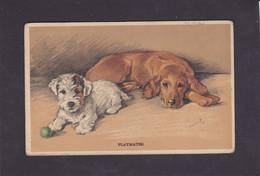 Dog Card -   Playmates  !!  -  Mac.  1941. - Perros