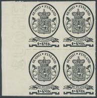 FINNLAND 169  VB **, 1931, 1 M. Postmuseum Im Randviererblock, Pracht, Mi. (100.-) - Ohne Zuordnung