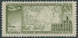 SOWJETUNION 411B **, 1932, 1 R. Polarjahr, Gezähnt L 101/2, Normale Zähnung, Postfrisch, Pracht, Mi. 150.- - Ohne Zuordnung