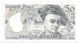 *france  50 Francs  1992  152f - 50 F 1976-1992 ''Quentin De La Tour''