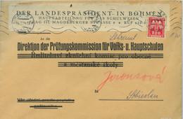 1944 Prag25,Der Landespräsident In Böhmen GroßBf M. Dienst An Prüfungskommission Für ... - Occupation 1938-45