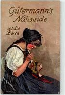 53270594 - Sign. Liebich, G. Guetermanns Naehseide Frau Tracht - Pubblicitari