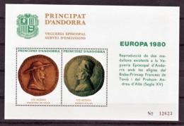 Andorre Viguerie épiscopale  Europa 1980 Neuf ** MNH Sin Charmela - Episcopale Vignetten