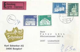 """Taxierte Express Briefvs  """"Schenker AG, Burgdorf"""" - Liebefeld           1971 - Brieven En Documenten"""