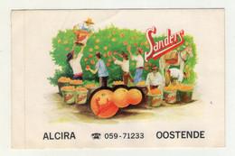 AUTOCOLLANT . STICKER .  ALCIRA SANDERS  ORANGE   SINAASAPPEL  APPELSIEN  DONKEY  EZEL  OOSTENDE - Stickers
