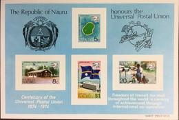 Nauru 1974 UPU Minisheet MNH - Nauru