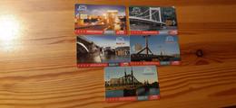 Phonecard Set Hungary - Bridges Of Budapest - 2.000 Ex., Mint Condition! - Ungheria