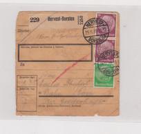 GERMANY HERVEST-DORSTEN 1939 Parcel Card - Lettres & Documents