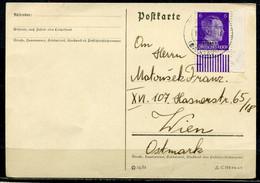 """German Empires Ostland 1942 Postkarte Mit Mi.Nr.5 Und Tstp....Daugay""""nach Wien .""""1 Karte - Occupation 1938-45"""