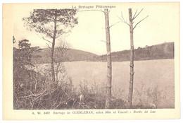 CPA 22 - MUR DE BRETAGNE (Côte D'Armor) - A. W. 3467. Barrage De GUERLEDAN, Entre Mûr Et Caurel - Bords Du Lac - Autres Communes