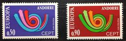 "ANDORRE / FRENCH ANDORRA 1973. ""EUROPA"" Yvert 226/227 - Neufs**/MNH Luxe. Vc 40 Euros - Ongebruikt"