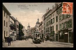 57 - THIONVILLE - DIEDENHOFEN - RUE DE PARIS - CARTE COLORISEE - Thionville