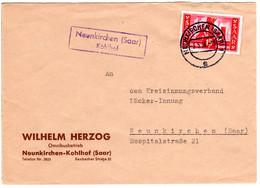 Saarland 1956, Landpost Stpl. NEUNKIRCHEN (Saar) Kohlhof Auf Brief M. 15 F. - Sin Clasificación