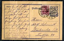"""German Empires,1922 GS Postreiter Mi.Nr.P146 Mit Zusatz Frankatur Und Klaren Tstp.Barmen,vom 29.8.22 """"1 Beleg - Covers & Documents"""