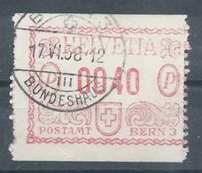 """Dienstfreistempel 3 (Typ D-1) """"Postamt Bern 3"""", 0040 Rp. Auf Klebezettel            1938 - Interi Postali"""