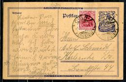 """German Empires,1922 GS Postreiter Mi.Nr.P146 Mit Zusatz Frankatur Und Klaren Tstp.""""Cöln-Zollstock,vom 5.9.22 """"1 Beleg - Covers & Documents"""