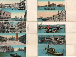 Venise...lot De 21 Mini Cartes Postales..format 13.5 Cm/4.cm....toutes Scannees.et Dos - Venezia (Venice)