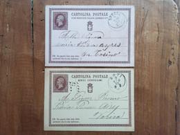 REGNO - 2 Cartoline Postali - Annullate + Spese Postali - Marcophilie