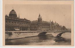 DEPT 75 : Paris 04 : Carte Réponse Bazar De L'hôtel De Ville , Le Tribunal De Commerce La Conciergerie Et La Seine - Distrito: 04