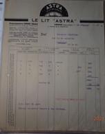 Facture 1938 Le Lit ASTRA Crosne établissements Henri Haas - Client à Lamballe - 1900 – 1949