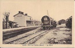 Vic Le Fesq La Gare Viticole Carte En Bon état - Autres Communes