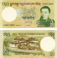 Bhutan 20 Ngultrum 2013 UNC (P30) - Bhutan