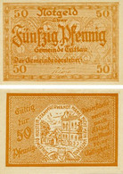 Germany Notgeld 50 Pfennigs F-VF Schleswig-Holstein Orange - Lokale Ausgaben