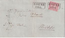 NORDDEUTSCHER BUND  1870 LETTRE DE ESENS - Norddeutscher Postbezirk