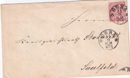 NORDDEUTSCHER BUND  1869 LETTRE DE GERA - North German Conf.
