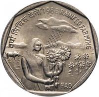 India 1 Rupee 1988 FAO - Rainfed XF (KM # 82) - Indien