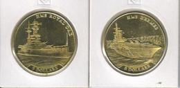 Nauru Set Of 2 Coins 2016 Ships - HMS Hermes And HMS Royal Oak UNC - Nauru