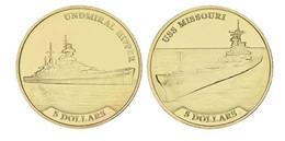 Nauru Set Of 2 Coins 2017 Ships - Admiral Hipper And MisSouthri UNC - Nauru