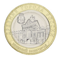 Russia 10 Rubles 2021 Bimetal UNC Ancient Cities Of Russia - Nizhny Novgorod - Russland