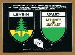 SUISSE ( LEYSIN - VAUD ) : ECUSSON BLASON ADHESIF  (CPM) - Stickers