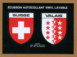 SUISSE ( VALAIS ) : ECUSSON BLASON ADHESIF  (CPM) - Stickers