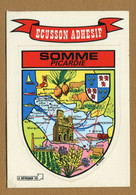 SOMME ( PICARDIE ) : ECUSSON BLASON ADHESIF  (CPM) - Stickers