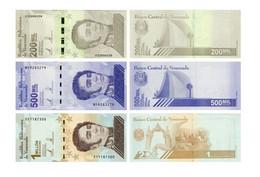 Venezuela Set Of 3 Banknotes 2020 UNC 200,000, 500,000, 1,000,000 Bolivar - Venezuela
