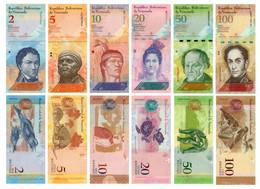 Venezuela Set Of 6 Banknotes 2011-2015 UNC - Venezuela