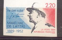 Mal De Lattrede Tassigny De 1989 YT 2611 Sans Trace De Charnière - Ongetand